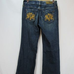 7 For All Mankind sz 25 Embroidered Flare Jeans